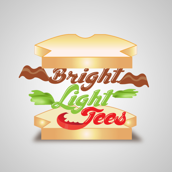 Logo Design by storm - Entry No. 32 in the Logo Design Contest BLT Sandwich Logo - Bread, with stacked words as filling.