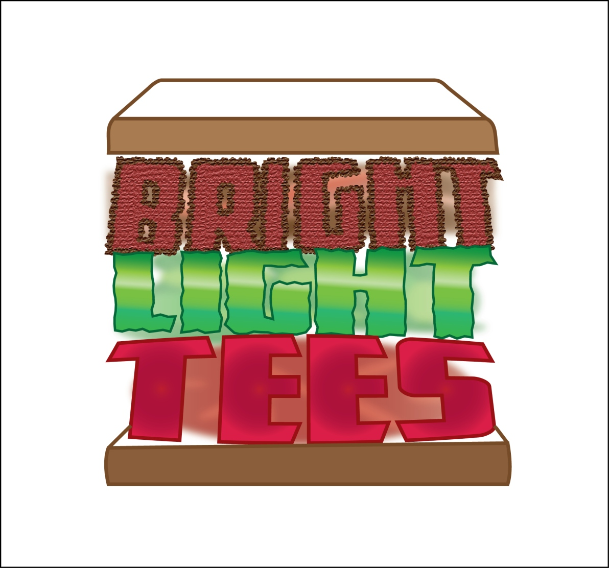 Logo Design by LLP7 - Entry No. 39 in the Logo Design Contest BLT Sandwich Logo - Bread, with stacked words as filling.