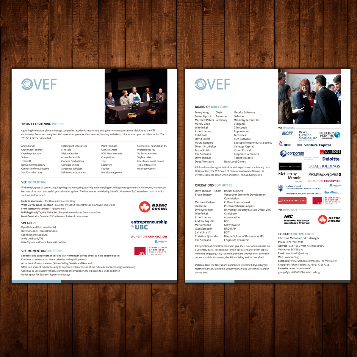 Print Design by Private User - Entry No. 9 in the Print Design Contest Vancouver Enterprise Forum (VEF) Season Highlights.