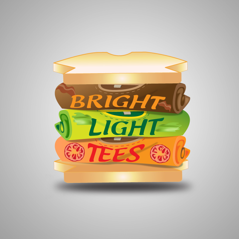 Logo Design by storm - Entry No. 52 in the Logo Design Contest BLT Sandwich Logo - Bread, with stacked words as filling.
