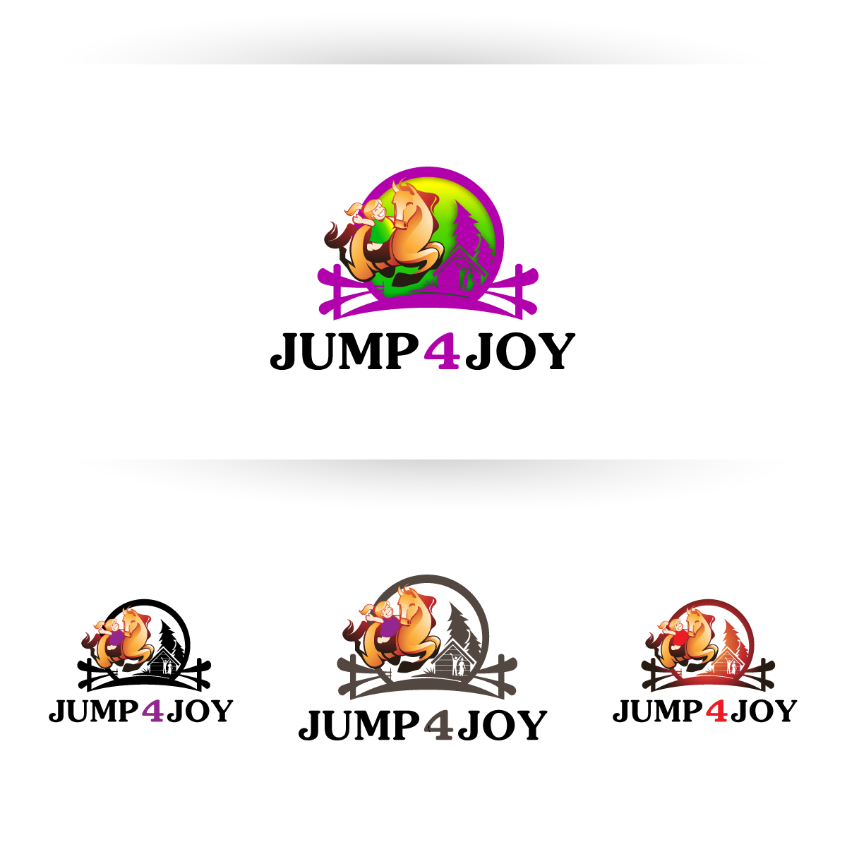 Logo Design by zesthar - Entry No. 44 in the Logo Design Contest Jump 4 Joy.
