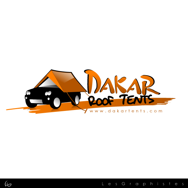 Logo Design by Les-Graphistes - Entry No. 7 in the Logo Design Contest Dakar Roof Tents.