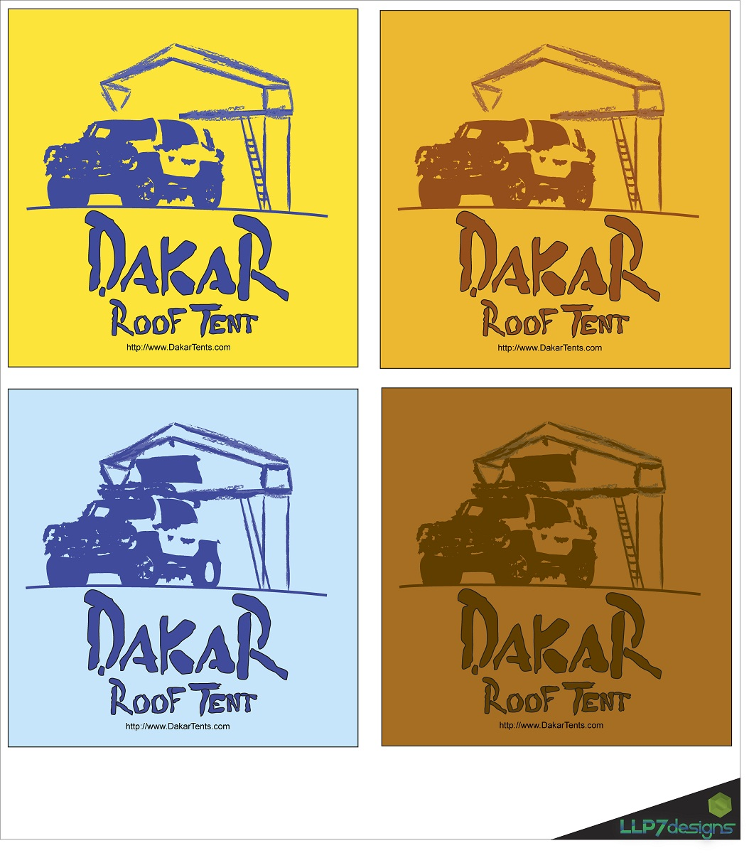 Logo Design by LLP7 - Entry No. 35 in the Logo Design Contest Dakar Roof Tents.