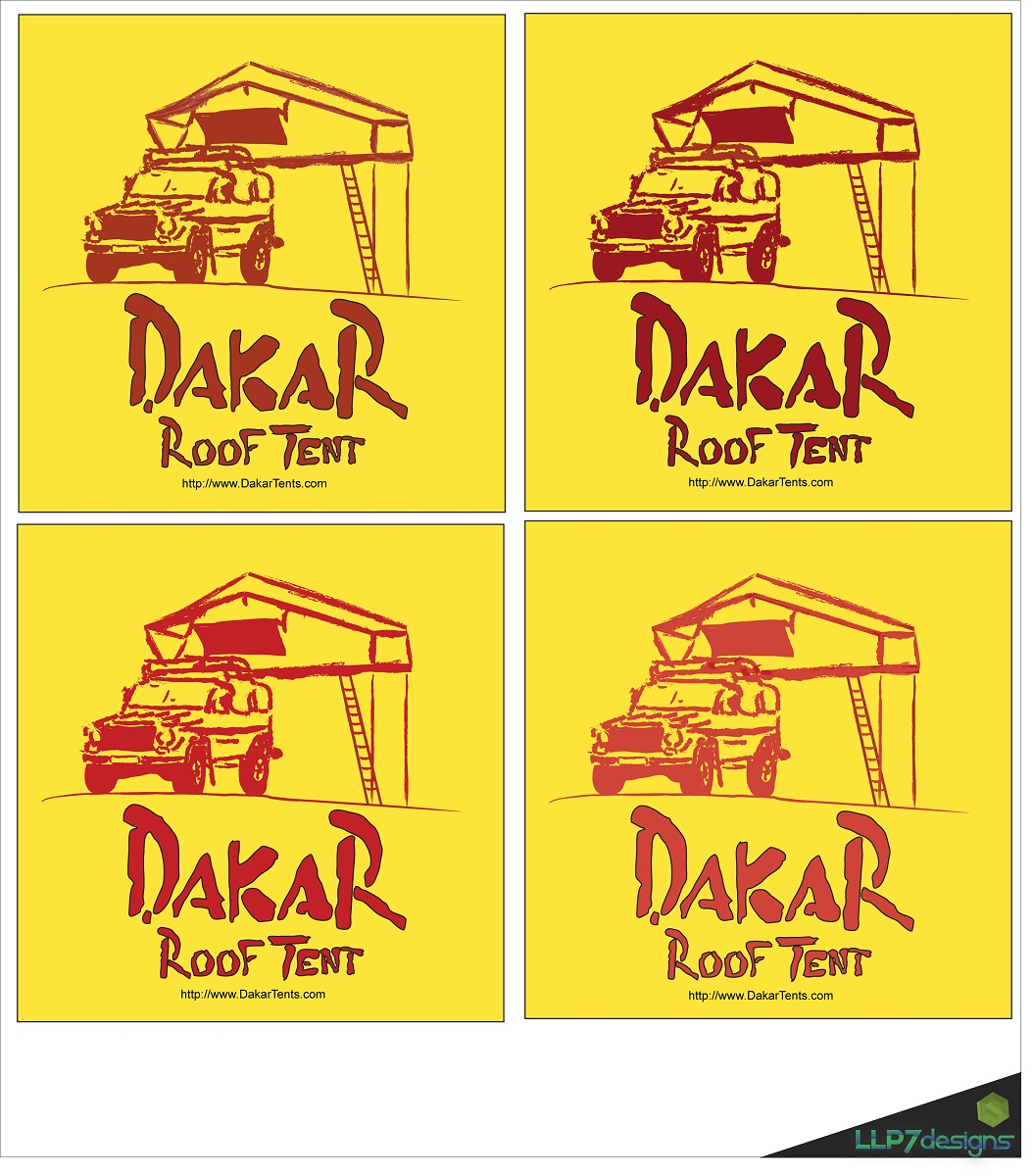 Logo Design by LLP7 - Entry No. 57 in the Logo Design Contest Dakar Roof Tents.