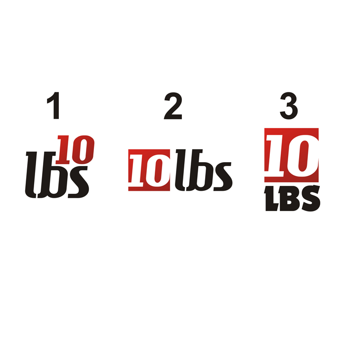 Logo Design by lestari17 - Entry No. 41 in the Logo Design Contest 10 lbs.