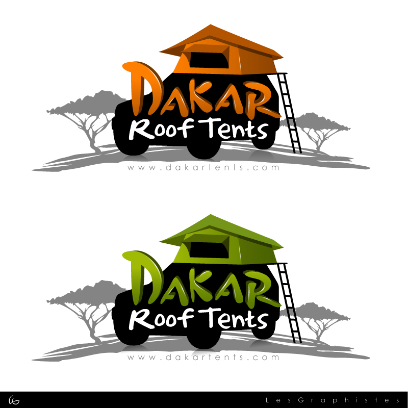 Logo Design by Les-Graphistes - Entry No. 58 in the Logo Design Contest Dakar Roof Tents.