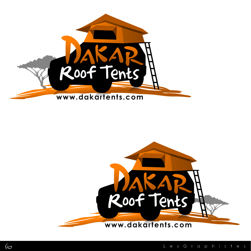 Logo Design by Les-Graphistes - Entry No. 67 in the Logo Design Contest Dakar Roof Tents.