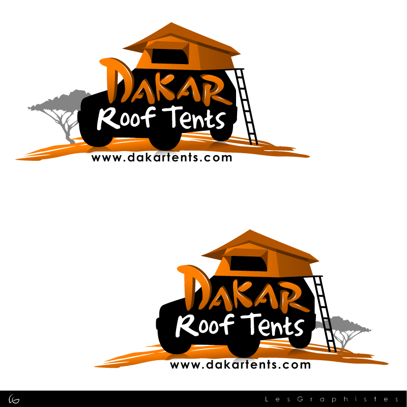 Logo Design by Les-Graphistes - Entry No. 68 in the Logo Design Contest Dakar Roof Tents.