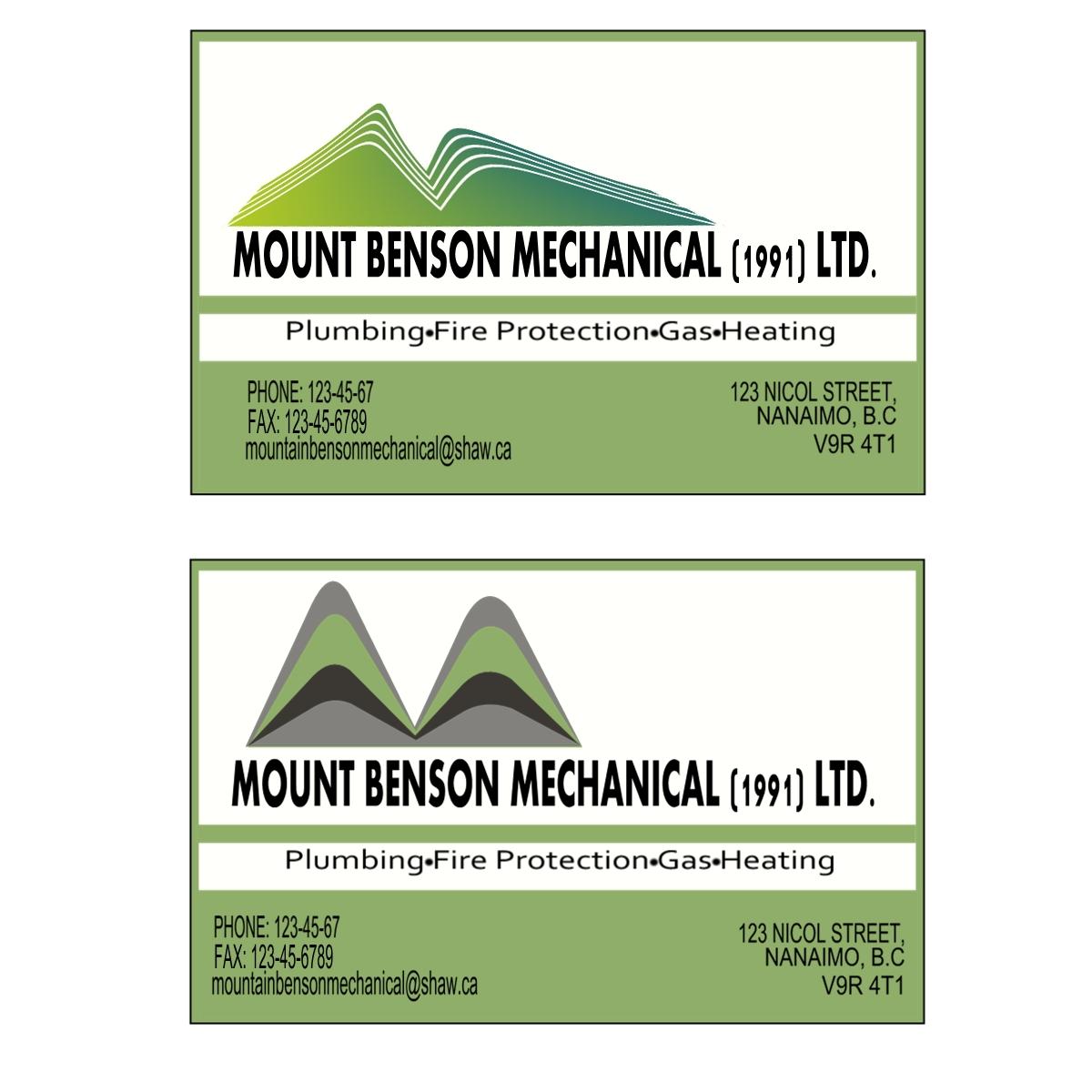 Logo Design by Joseph calunsag Cagaanan - Entry No. 1 in the Logo Design Contest Mount Benson Mechanical.
