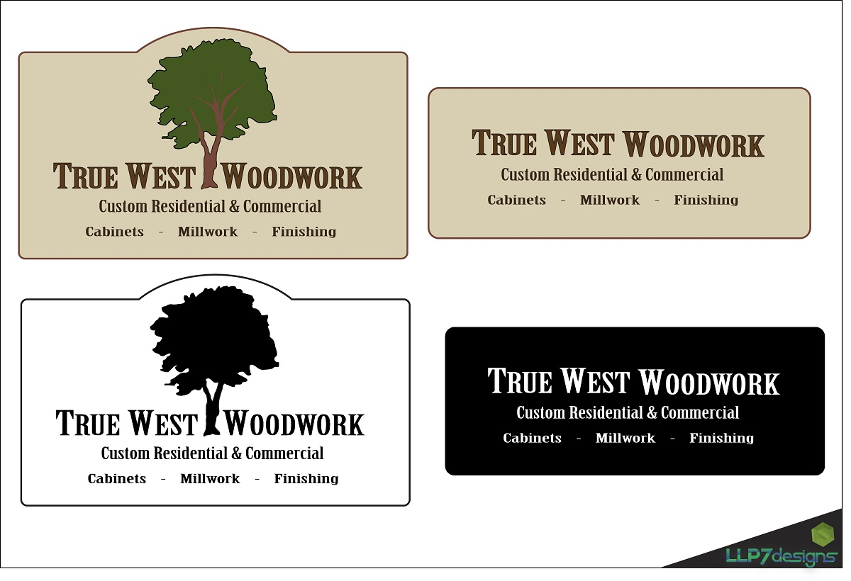Logo Design by LLP7 - Entry No. 2 in the Logo Design Contest True West Woodwork.