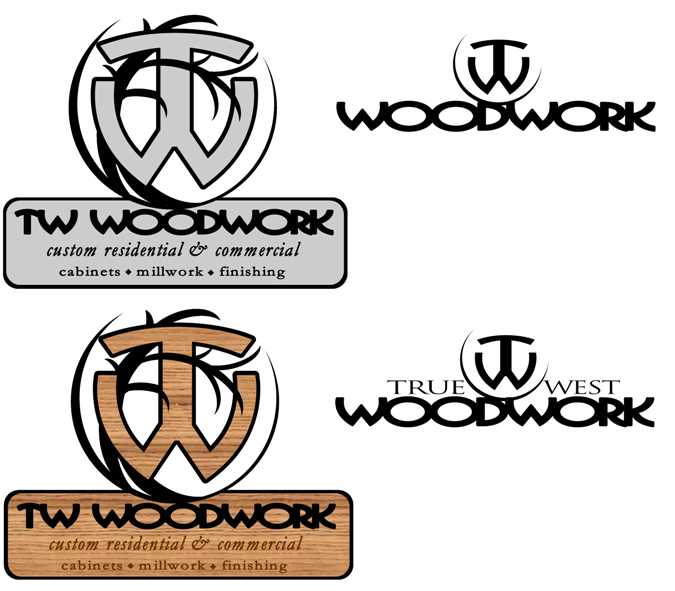 Logo Design by Michael Shaw - Entry No. 3 in the Logo Design Contest True West Woodwork.