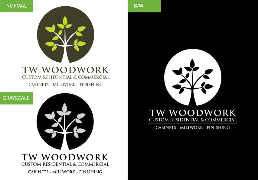 Logo Design by Christian Nascimento - Entry No. 27 in the Logo Design Contest True West Woodwork.