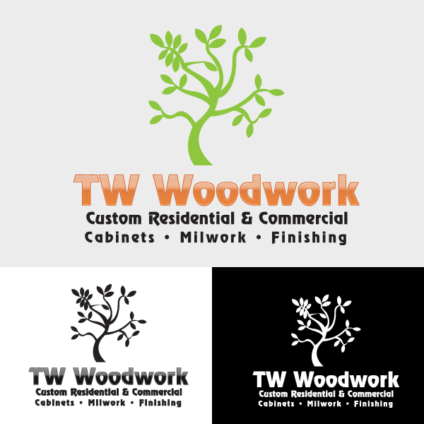 Logo Design by storm - Entry No. 28 in the Logo Design Contest True West Woodwork.