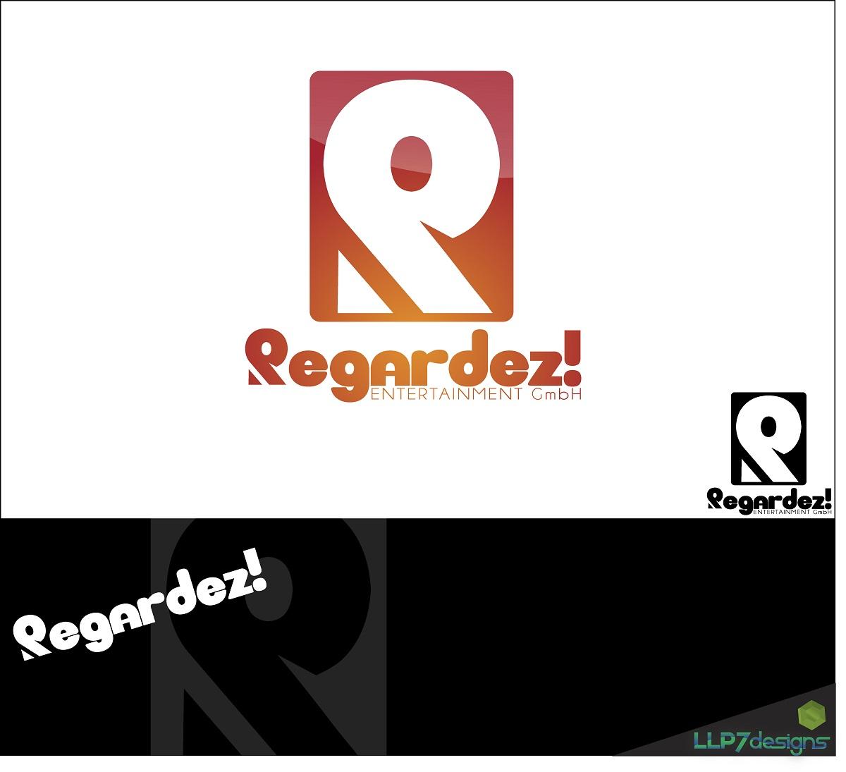 Logo Design by LLP7 - Entry No. 2 in the Logo Design Contest Logo Design Needed for Exciting New Company Regardez! (full name = Regardez! Entertainment GmbH).