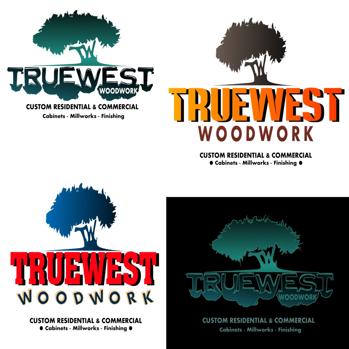 Logo Design by Joseph calunsag Cagaanan - Entry No. 30 in the Logo Design Contest True West Woodwork.