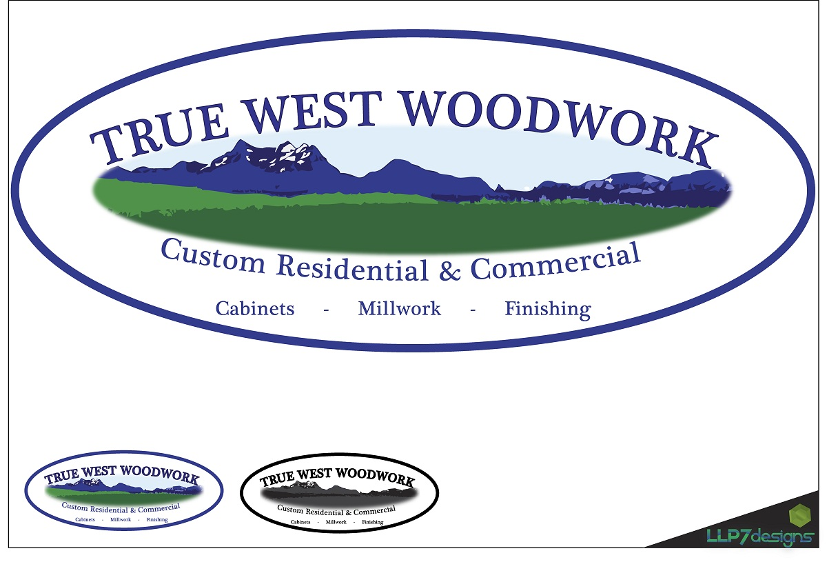 Logo Design by LLP7 - Entry No. 41 in the Logo Design Contest True West Woodwork.