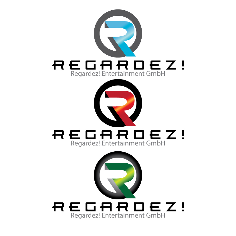 Logo Design by stormbighit - Entry No. 6 in the Logo Design Contest Logo Design Needed for Exciting New Company Regardez! (full name = Regardez! Entertainment GmbH).
