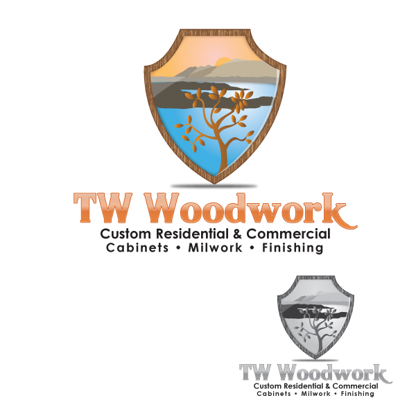 Logo Design by storm - Entry No. 44 in the Logo Design Contest True West Woodwork.