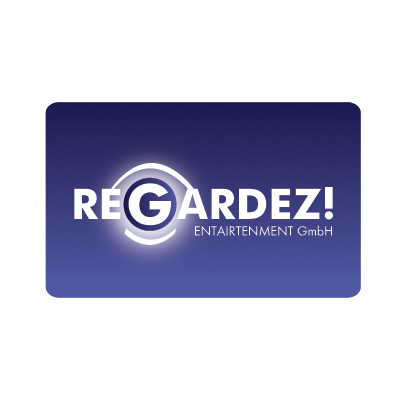 Logo Design by saint - Entry No. 16 in the Logo Design Contest Logo Design Needed for Exciting New Company Regardez! (full name = Regardez! Entertainment GmbH).