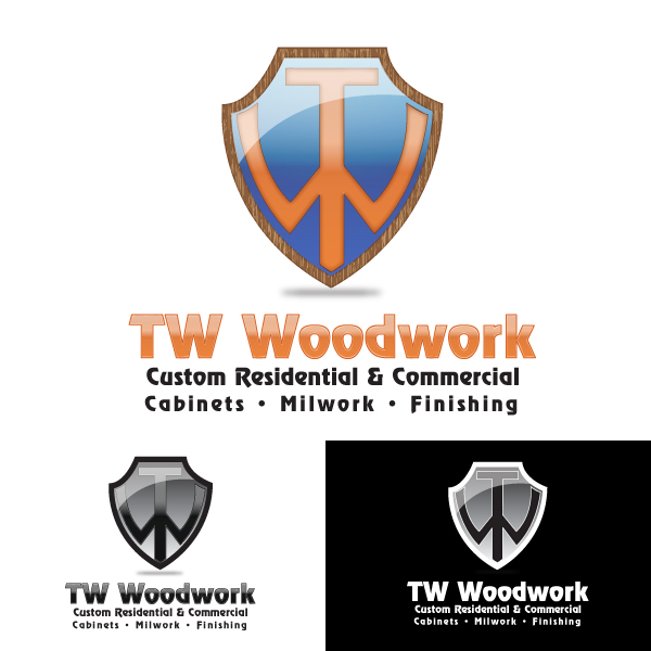 Logo Design by storm - Entry No. 55 in the Logo Design Contest True West Woodwork.