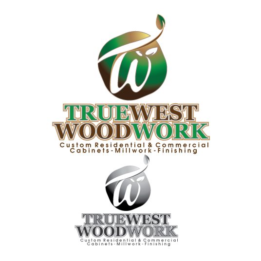 Logo Design by stormbighit - Entry No. 57 in the Logo Design Contest True West Woodwork.