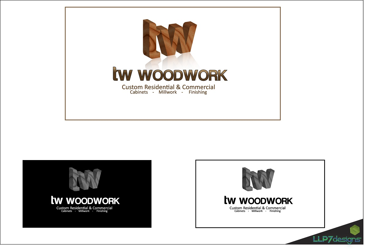 Logo Design by LLP7 - Entry No. 58 in the Logo Design Contest True West Woodwork.