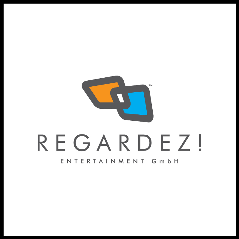 Logo Design by Number-Eight-Design - Entry No. 22 in the Logo Design Contest Logo Design Needed for Exciting New Company Regardez! (full name = Regardez! Entertainment GmbH).