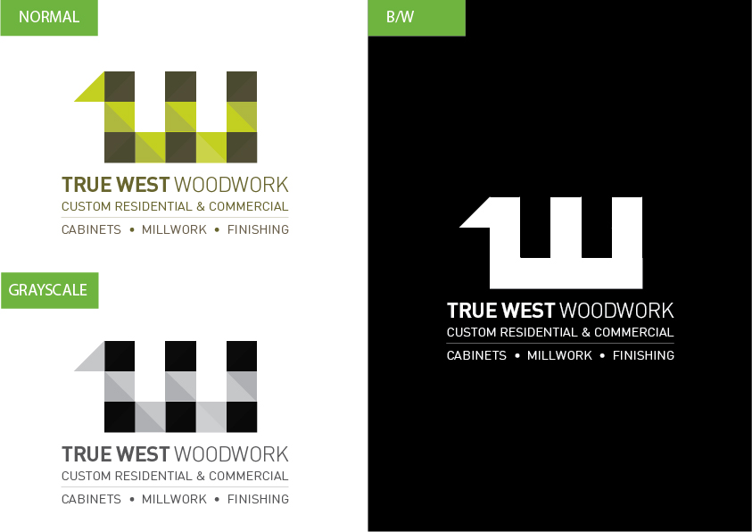 Logo Design by Christian Nascimento - Entry No. 66 in the Logo Design Contest True West Woodwork.
