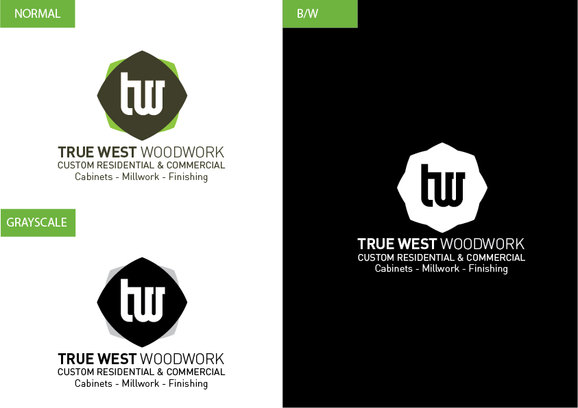 Logo Design by Christian Nascimento - Entry No. 67 in the Logo Design Contest True West Woodwork.