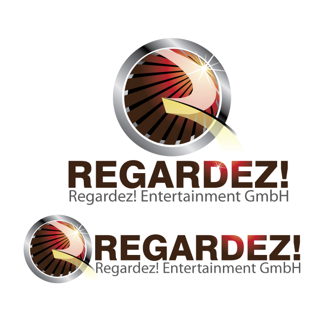Logo Design by stormbighit - Entry No. 37 in the Logo Design Contest Logo Design Needed for Exciting New Company Regardez! (full name = Regardez! Entertainment GmbH).