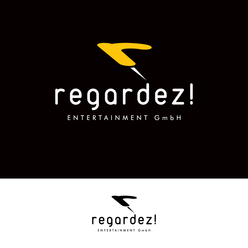 Logo Design by Number-Eight-Design - Entry No. 54 in the Logo Design Contest Logo Design Needed for Exciting New Company Regardez! (full name = Regardez! Entertainment GmbH).