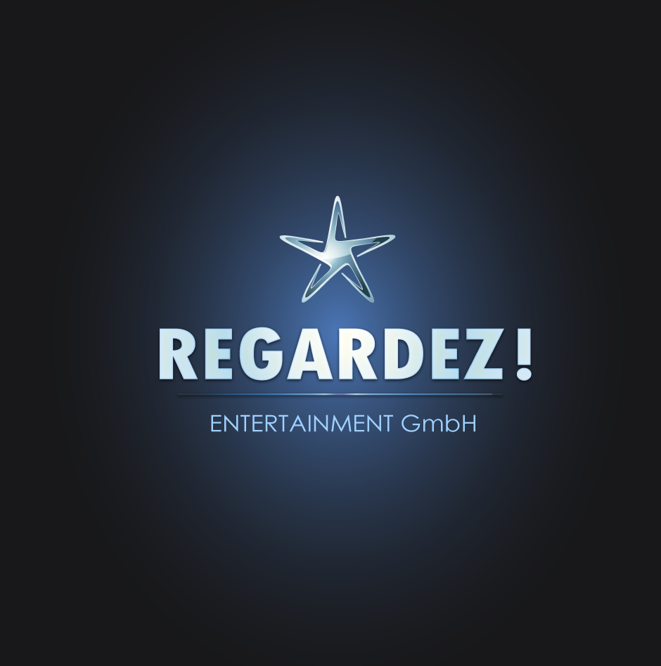 Logo Design by moonflower - Entry No. 63 in the Logo Design Contest Logo Design Needed for Exciting New Company Regardez! (full name = Regardez! Entertainment GmbH).