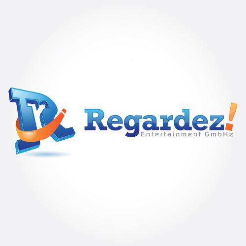 Logo Design by suke - Entry No. 75 in the Logo Design Contest Logo Design Needed for Exciting New Company Regardez! (full name = Regardez! Entertainment GmbH).