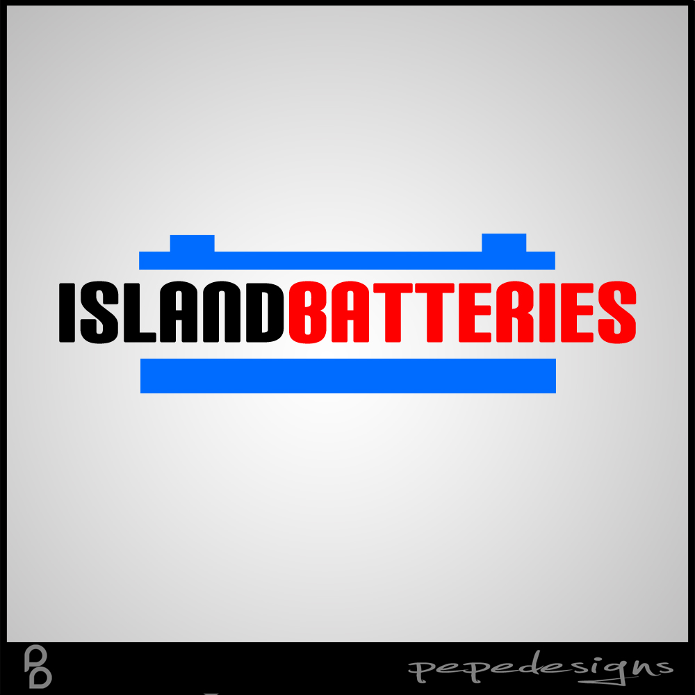 Logo Design by Joseph Neal Lacatan - Entry No. 3 in the Logo Design Contest Fun Logo Design for Island Batteries.