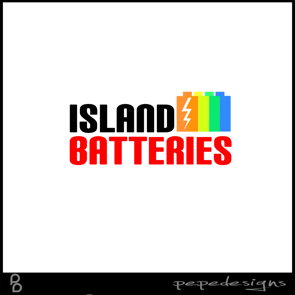 Logo Design by Joseph Neal Lacatan - Entry No. 4 in the Logo Design Contest Fun Logo Design for Island Batteries.