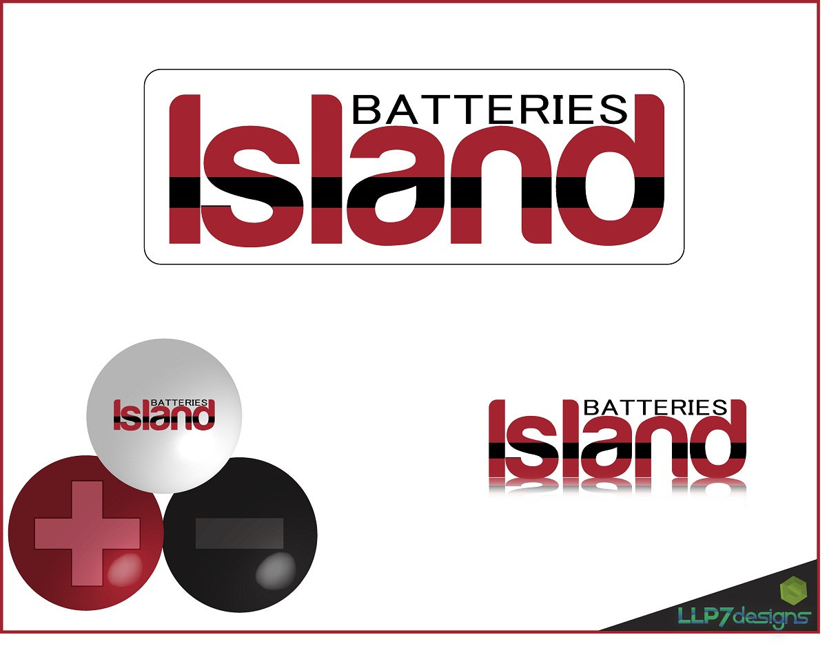 Logo Design by LLP7 - Entry No. 12 in the Logo Design Contest Fun Logo Design for Island Batteries.