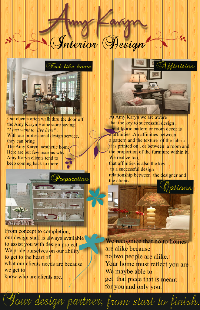 Print Design by Heri Susanto - Entry No. 16 in the Print Design Contest Print Design Needed for Interior Design Company Amy Karyn Inc..