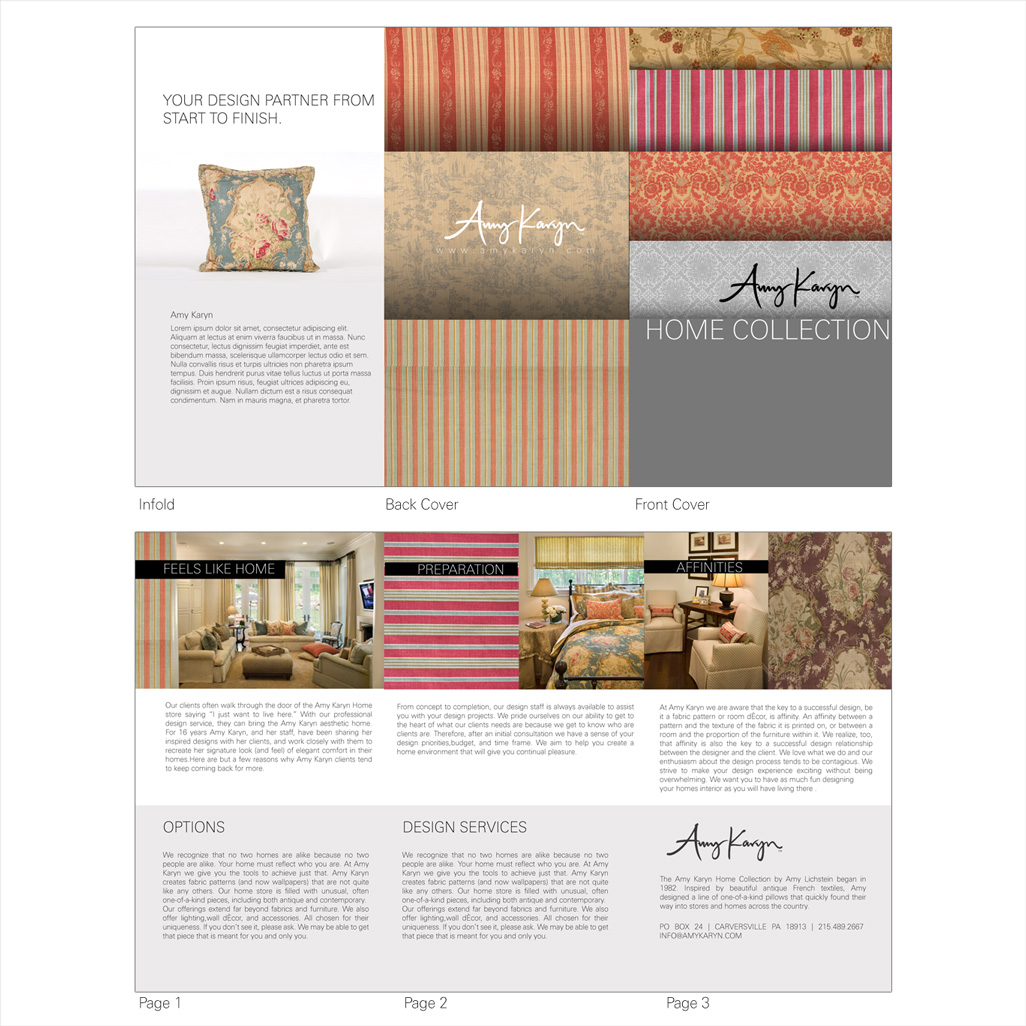 Print Design by Private User - Entry No. 17 in the Print Design Contest Print Design Needed for Interior Design Company Amy Karyn Inc..