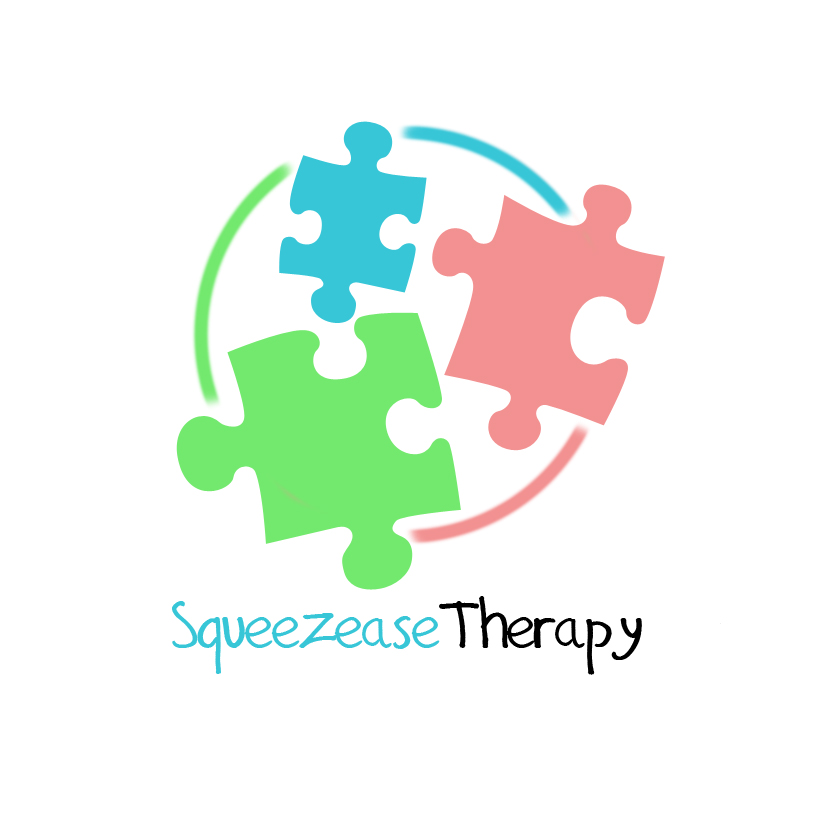 Logo Design by Manzur Ghozaali - Entry No. 5 in the Logo Design Contest Fun Logo Design for Squeezease Therapy.