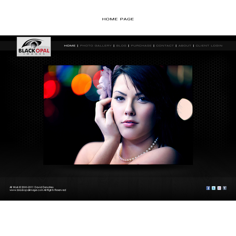 Web Page Design by suke - Entry No. 23 in the Web Page Design Contest New Web Page Design for Black Opal Images.