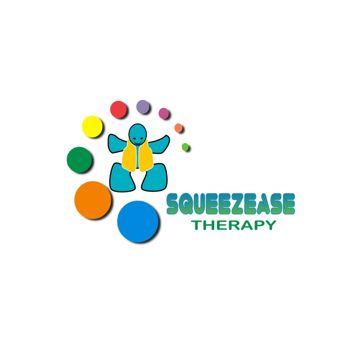 Logo Design by Joseph calunsag Cagaanan - Entry No. 12 in the Logo Design Contest Fun Logo Design for Squeezease Therapy.