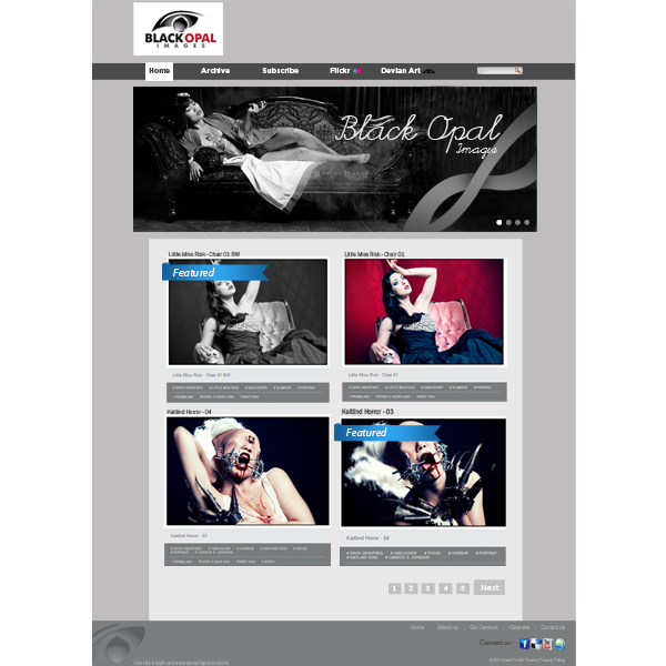 Web Page Design by Private User - Entry No. 34 in the Web Page Design Contest New Web Page Design for Black Opal Images.
