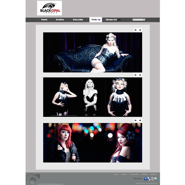 Web Page Design by Private User - Entry No. 37 in the Web Page Design Contest New Web Page Design for Black Opal Images.