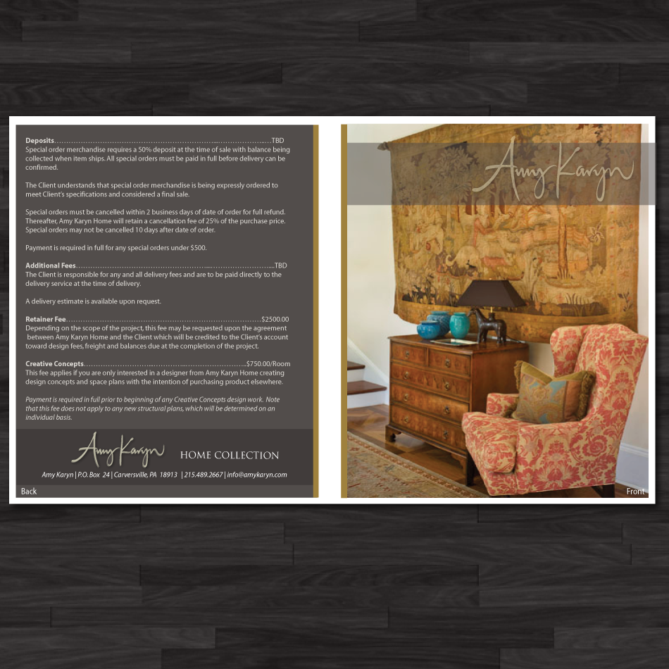 Print Design by moonflower - Entry No. 29 in the Print Design Contest Print Design Needed for Interior Design Company Amy Karyn Inc..