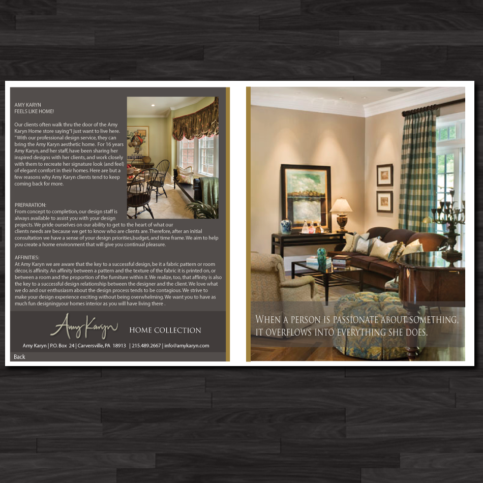 Print Design by moonflower - Entry No. 32 in the Print Design Contest Print Design Needed for Interior Design Company Amy Karyn Inc..