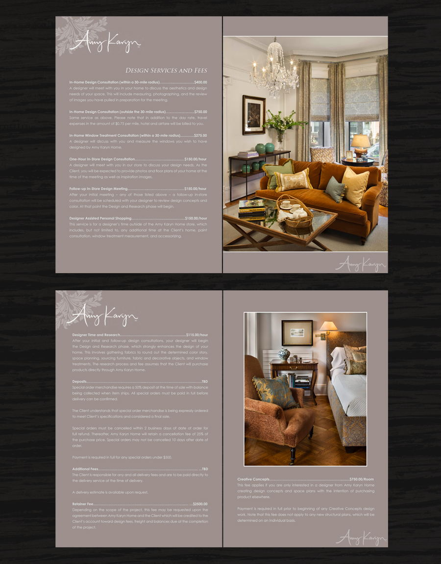 Print Design by double-take - Entry No. 38 in the Print Design Contest Print Design Needed for Interior Design Company Amy Karyn Inc..