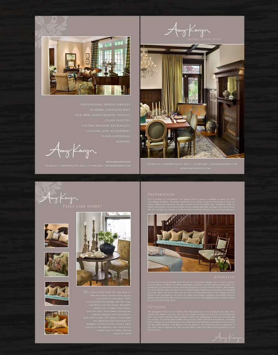Print Design by double-take - Entry No. 39 in the Print Design Contest Print Design Needed for Interior Design Company Amy Karyn Inc..