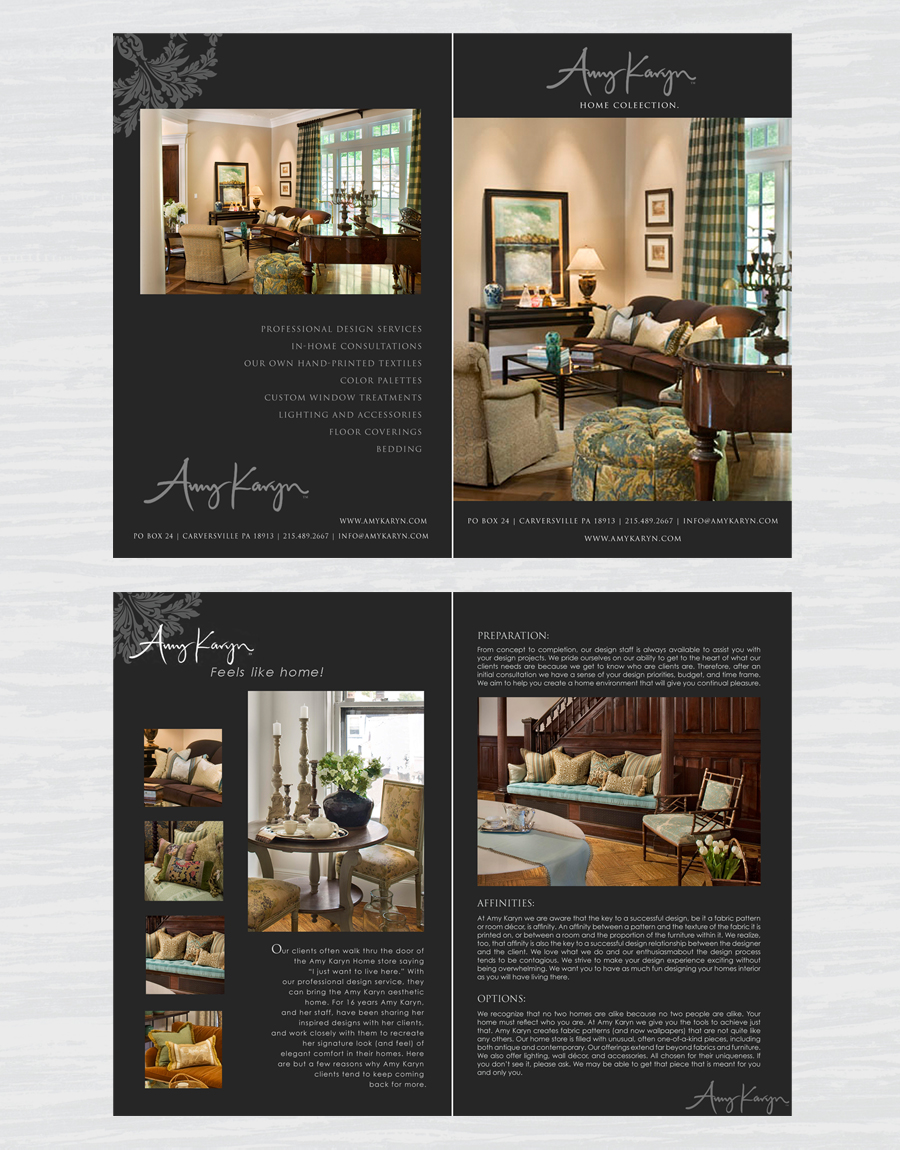Print Design by double-take - Entry No. 40 in the Print Design Contest Print Design Needed for Interior Design Company Amy Karyn Inc..
