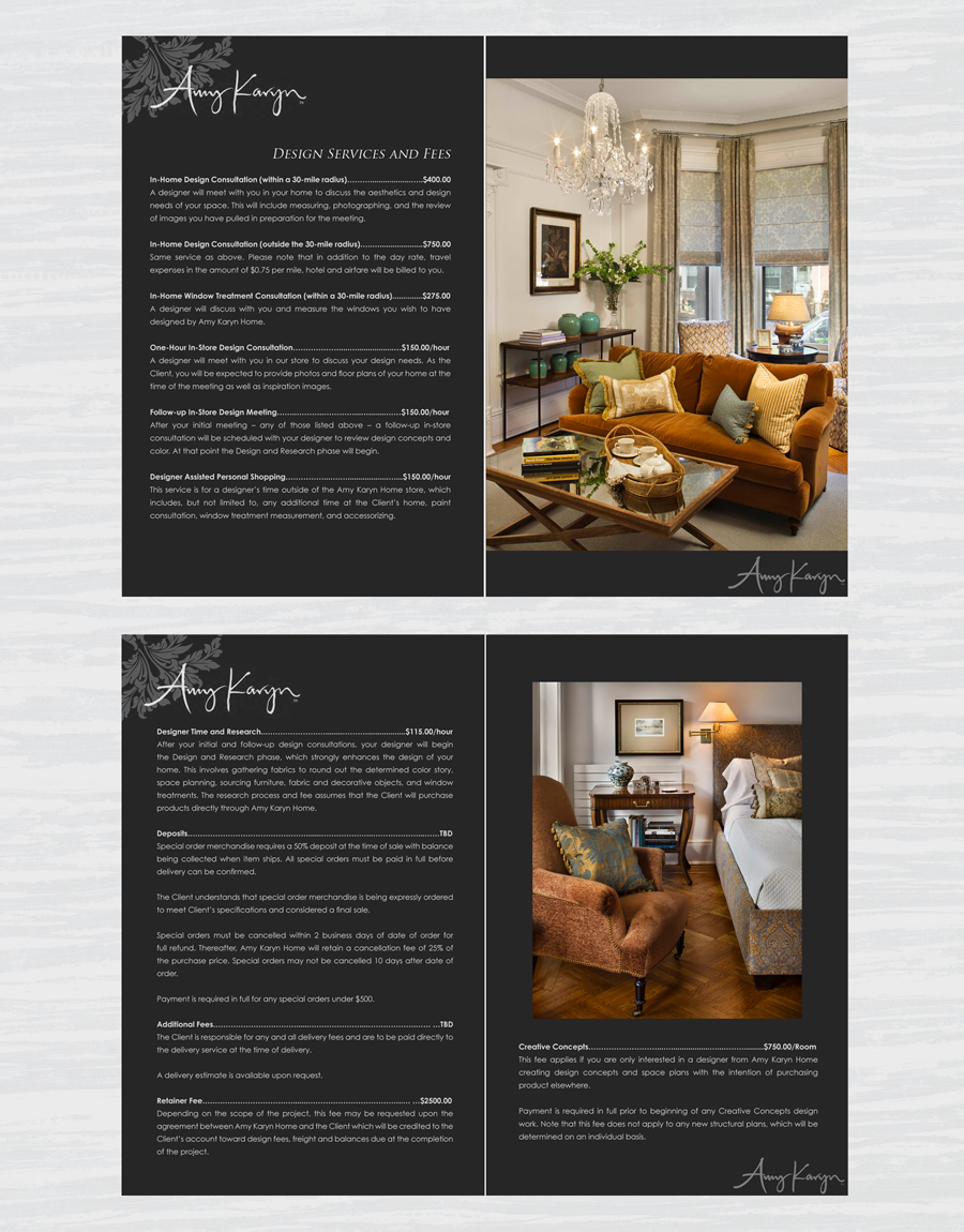 Print Design by double-take - Entry No. 41 in the Print Design Contest Print Design Needed for Interior Design Company Amy Karyn Inc..