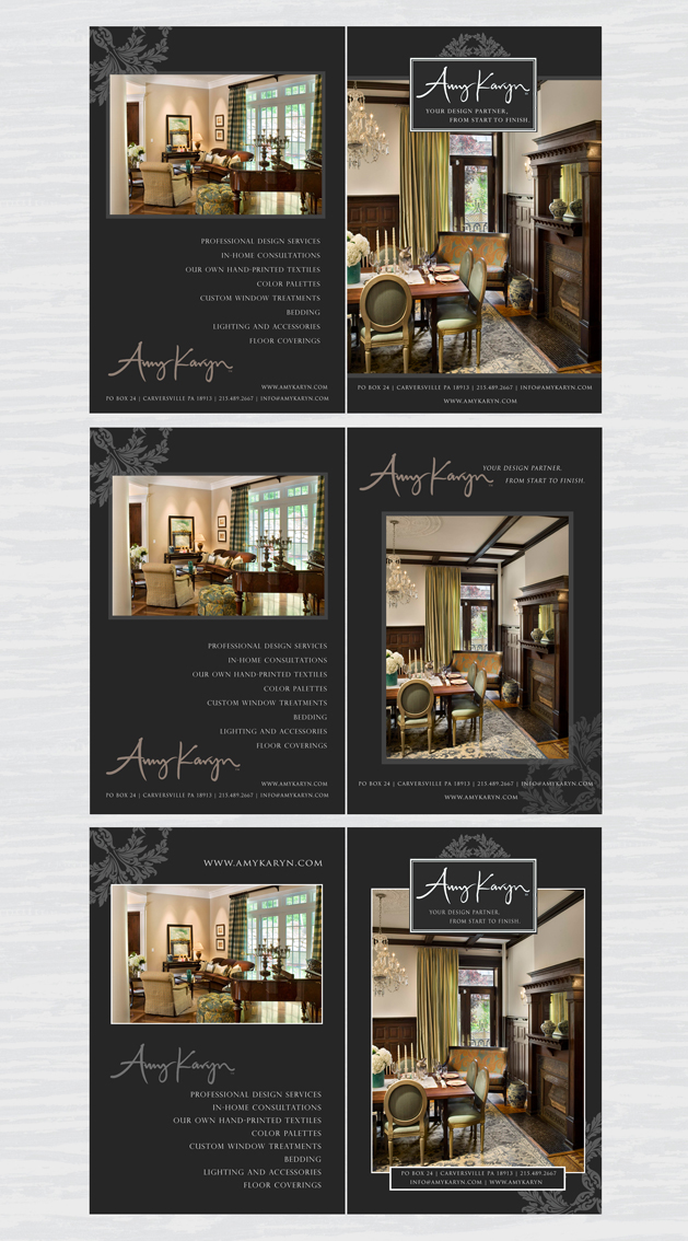 Print Design by double-take - Entry No. 42 in the Print Design Contest Print Design Needed for Interior Design Company Amy Karyn Inc..